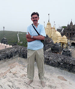 Gordon Holler at Mt. Palitana in Gujarat